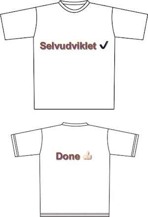Selvudvikling tshirt