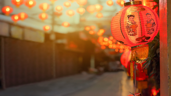 Kinesisk nytår rottens år 2020 - lanterne